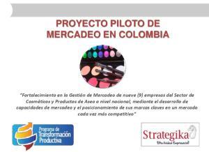 PROYECTO PILOTO DE MERCADEO EN COLOMBIA