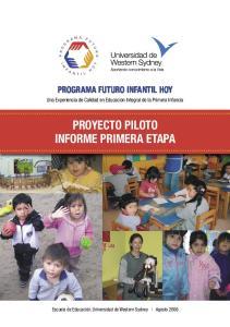 PROYECTO PILOTO INFORME PRIMERA ETAPA