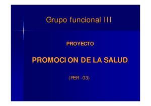 PROYECTO PROMOCION DE LA SALUD