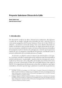 Proyecto Salesiano Chicos de la Calle