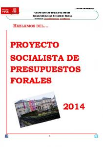 PROYECTO SOCIALISTA DE PRESUPUESTOS FORALES