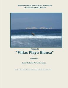 Proyecto Villas Playa Blanca