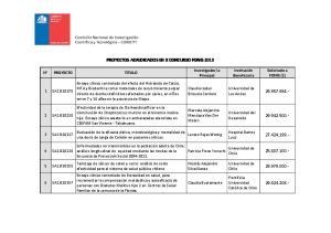 PROYECTOS ADJUDICADOS EN X CONCURSO FONIS 2013