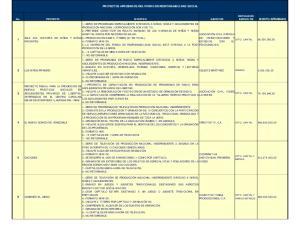PROYECTOS APROBADOS DEL FONDO DE RESPONSABILIDAD SOCIAL