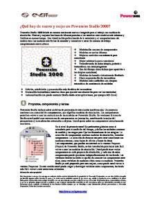 Proyectos, componentes y tareas