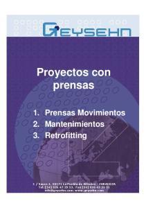 Proyectos con prensas
