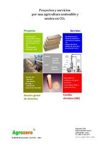 Proyectos y servicios por una agricultura sostenible y neutra en CO2