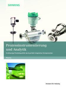 Prozessinstrumentierung und Analytik