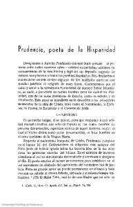 Prudencio, poeta de la Hispanidad
