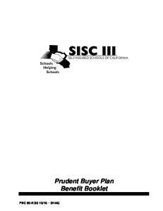 Prudent Buyer Plan Benefit Booklet