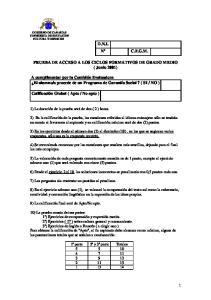 PRUEBA DE ACCESO A LOS CICLOS FORMATIVOS DE GRADO MEDIO ( Junio 2001)