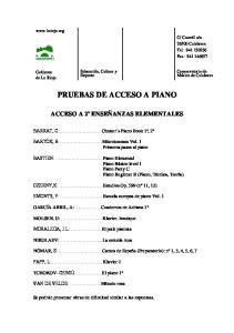 PRUEBAS DE ACCESO A PIANO