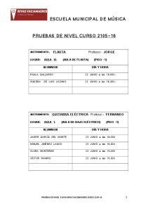 PRUEBAS DE NIVEL CURSO