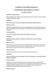 Przedkliniczna Stomatologia Zintegrowana