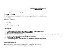PRZEDMIOTOWY SYSTEM OCENIANIA Z BIOLOGII Klasa III