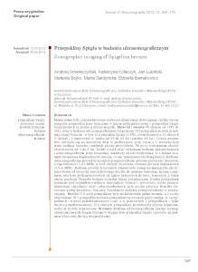 Przepukliny Spigla w badaniu ultrasonograficznym Sonographic imaging of Spigelian hernias
