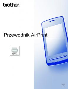 Przewodnik AirPrint. Wersja 0 POL
