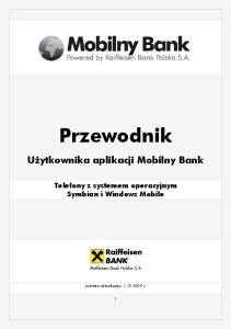 Przewodnik Użytkownika aplikacji Mobilny Bank Telefony z systemem operacyjnym Symbian i Windows Mobile