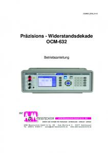 Präzisions - Widerstandsdekade OCM-632