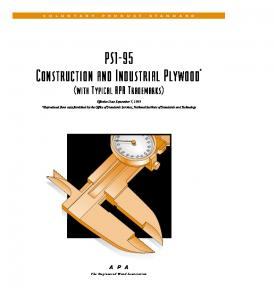 PS1-95 Construction and Industrial Plywood *