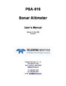 PSA-916. Sonar Altimeter