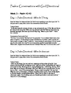 Psalms: Conversations with God Devotional
