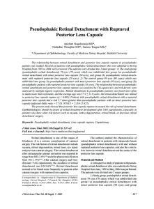 Pseudophakic Retinal Detachment with Ruptured Posterior Lens Capsule