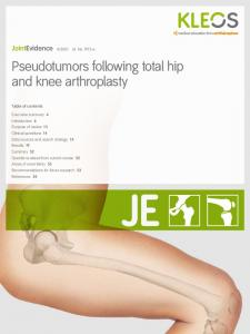 Pseudotumors following total hip and knee arthroplasty