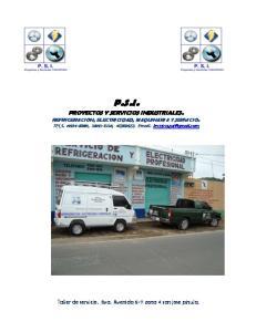 P.S.I. PROYECTOS Y SERVICIOS INDUSTRIALES. REFRIGERACION, ELECTRICIDAD, MAQUINARIA Y SERVICIO