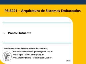 PSI3441 Arquitetura de Sistemas Embarcados