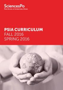PSIA CURRICULUM FALL 2016 SPRING 2016