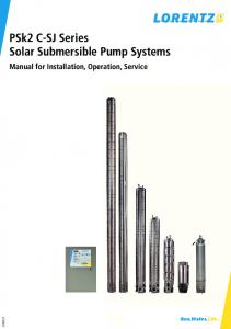 PSk2 C-SJ Series Solar Submersible Pump Systems
