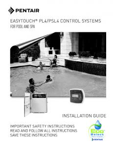 PSL4 CONTROL SYSTEMS FOR POOL AND SPA