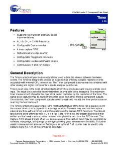 PSoC Creator Component Data Sheet
