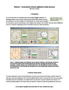 PstRotator ~ Antenna Rotator Software Application for Radio Astronomy