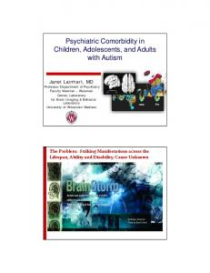 Psychiatric Comorbidity in Children, Adolescents, and Adults with Autism