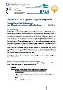 Psychiatrische Pflege im Pflegeberufegesetz?