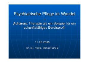 Psychiatrische Pflege im Wandel