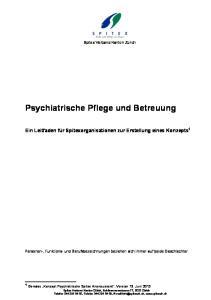 Psychiatrische Pflege und Betreuung