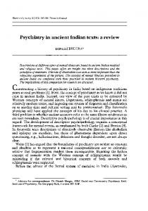 Psychiatry in ancient Indian texts: a review