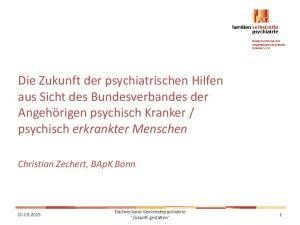 psychisch erkrankter Menschen