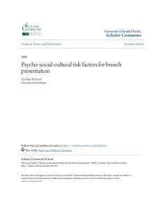 Psycho-social-cultural risk factors for breech presentation