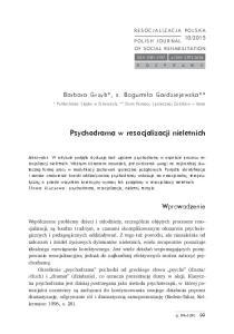 Psychodrama w resocjalizacji nieletnich