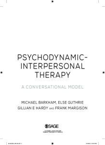 PSYCHODYNAMIC- INTERPERSONAL THERAPY