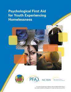 Psychological First Aid for Youth Experiencing Homelessness