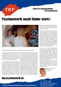Psychomotorik macht Kinder stark!