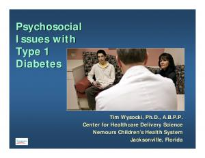 Psychosocial Issues with Type 1 Diabetes
