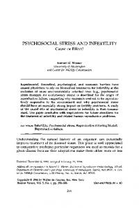 PSYCHOSOCIAL STRESS AND INFERTILITY