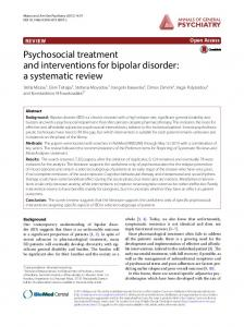 Psychosocial treatment and interventions for bipolar disorder: a systematic review