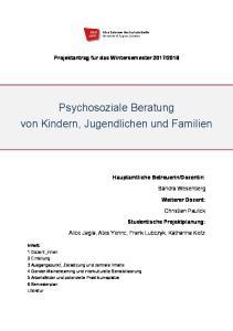 Psychosoziale Beratung von Kindern, Jugendlichen und Familien